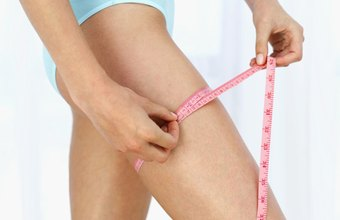 Reduce the girth of your thighs and knees through exercise and diet.