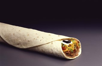 Burritos are usually made with flour tortillas.