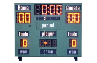 The official score of a game is determined by the scorekeeper.