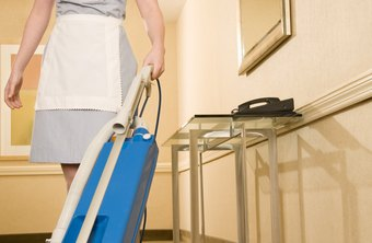 Vacuuming is a common housekeeping task.
