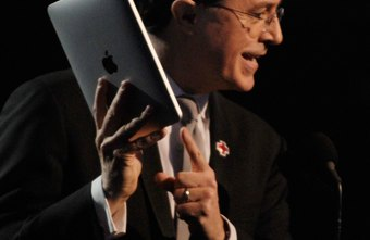 Stephen Colbert made a joke presentation on his iPad at the Grammys.