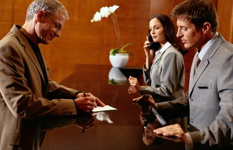 A hotel receptionists needs good customer service skills.