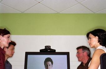 Video conferencing allows participants to talk face-to-face.