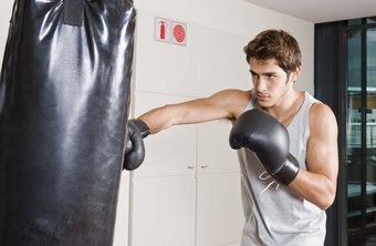 Punching bags function as training tools for boxers and martial artists.