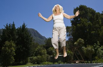 A larger trampoline will provide more bounce, so use caution not to jump too high.