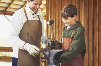 The blacksmith trade sometimes passes on through multiple family generations.