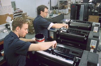 The many printing processes require different equipment and training.