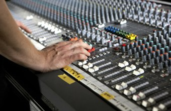 Recording arts students learn how to use sophisticated audio equipment.