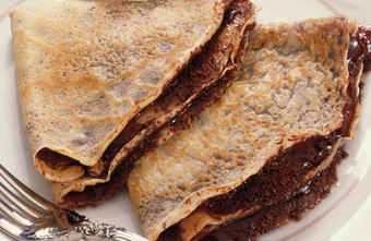 Some crepes are sweet, while others are savory.