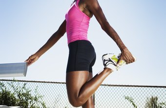Stretch and hold a hurdler's or quad stretch after you're fully warmed up.