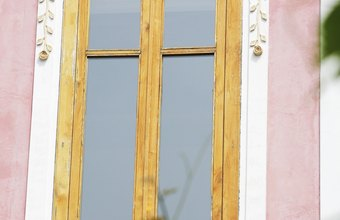 This window features decorative molding constructed by a millwork business.