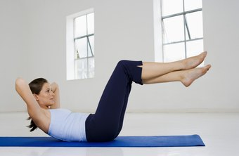 Bicycle crunches strengthen your lower ab muscles and the sides of the waistline.
