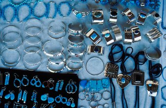 Merchandise vendors may specialize in jewelry sales.
