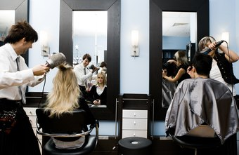 This is an example of cosmetologists providing hair styling services.