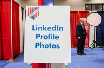 Career and professional events provide opportunities for business people to add current photos to LinkedIn profiles.