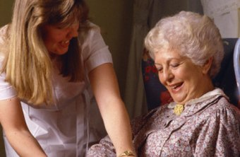 Taking care of simple needs is part of a senior care worker's job.