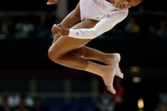 Strong legs help you balance on and leap off the beam.