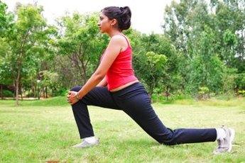 Bending forward opens the hip and lengthens the hip flexors.