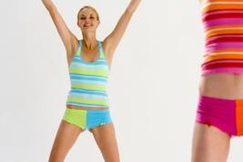 Jumping jacks are an aerobic exercise, but may cause calf pain.