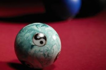 Stress balls come with many designs, but the Yin-Yang is popular.