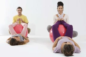An exercise ball adds cushioning and balance training to your glute exercises.