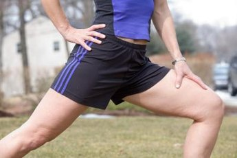 The quadriceps muscle stretches from the top of your knee to your hip.