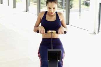 Indoor rowing is a great aerobic workout.