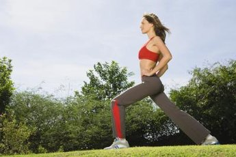 Feel the burn with walking lunges and squats.