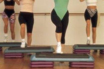 Hard floors are ideal for step aerobics.
