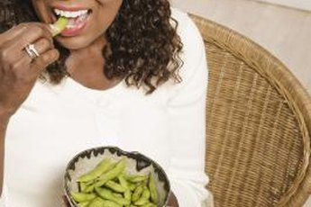 Edamame is a tasty and nutritious snack.