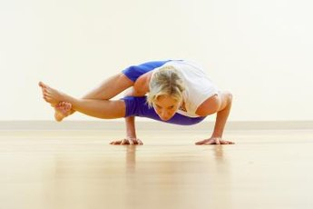 Warm up before trying the eight angle pose.