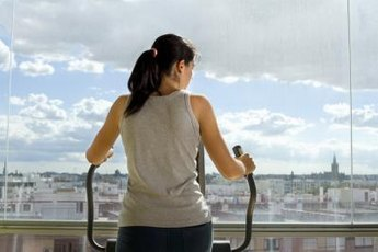 Moving an elliptical's handlebars provides an upper body workout.