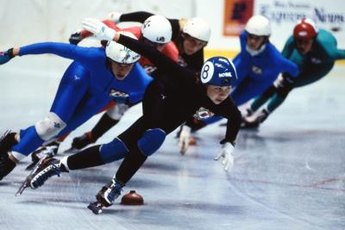 Adductor strength is important for speed skaters.