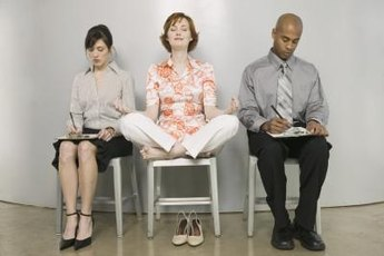 Meditation might help candidates reduce interview stress.