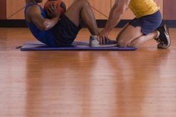 Push-ups and sit-ups effectively fatigue primary muscle groups.