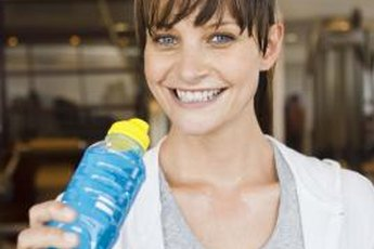 After working out, you may want to drink water with electrolytes.