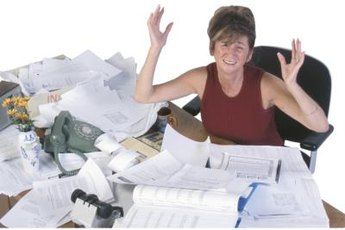 Being unorganized and behind on deadlines is a weakness that effects job performance.