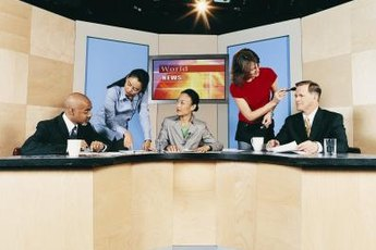 Think about your image and your message when dressing for a TV studio interview.