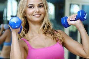 Tone your arms and shoulders with upper-body weight training.