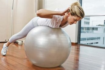 Performing Pilates exercises on a Fitball provides better muscle control for a more effective workout.