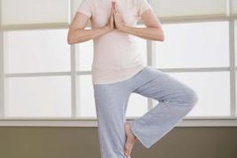 Yoga helps banish menopause symptoms.