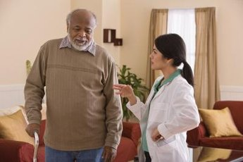Psychiatric technicians talk to patients to monitor their progress.
