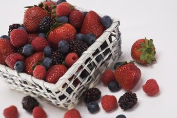 Many berries are high-fiber fruits.