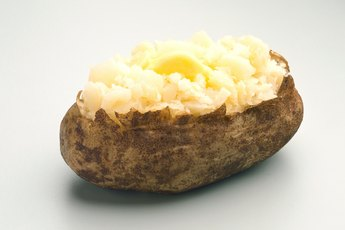 Nutrient Facts for a Baked Potato With Butter