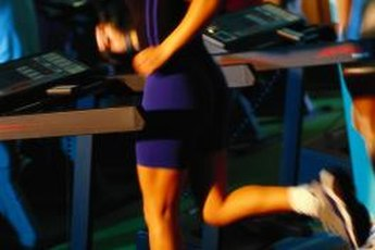 Jogging on a treadmill is an effective way to burn calories.