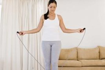 Jumping rope can build up muscles all over your body.