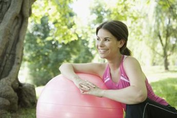 A stability ball is a great tool for belly workouts.
