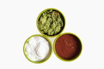 Make a tasty, low-sodium dip using fresh fruits, vegetables and herbs.