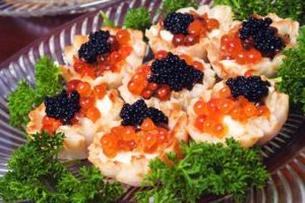 Eat caviar in only small amounts because it's high in cholesterol.