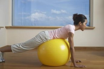 Watch your favorite show and work out with a stability ball.